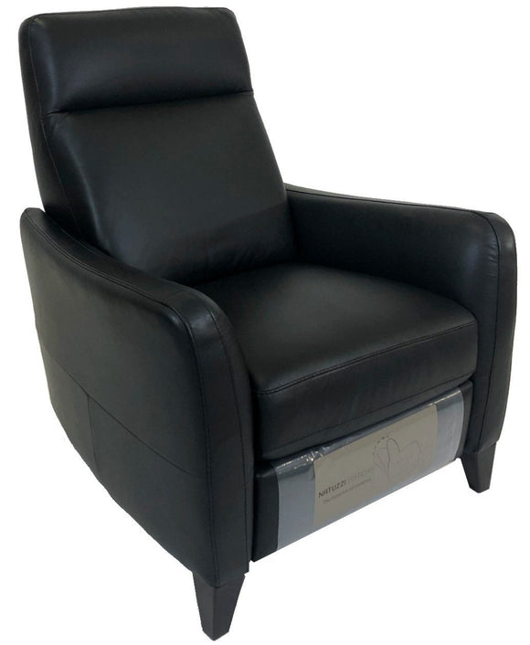 Natuzzi B537 Recliner in Black Leather