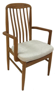 Sun Cabinet BL10 Armchair in Teak with Beige Fabric Seat