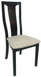 Skovby SM 62 Dining Chair in Wenge Wood and a Beige Fabric Seat