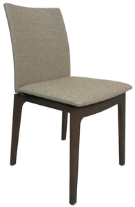 Skovby SM 63 Dining Chair with a Lacquered Walnut Frame and a Rose Fabric Seat