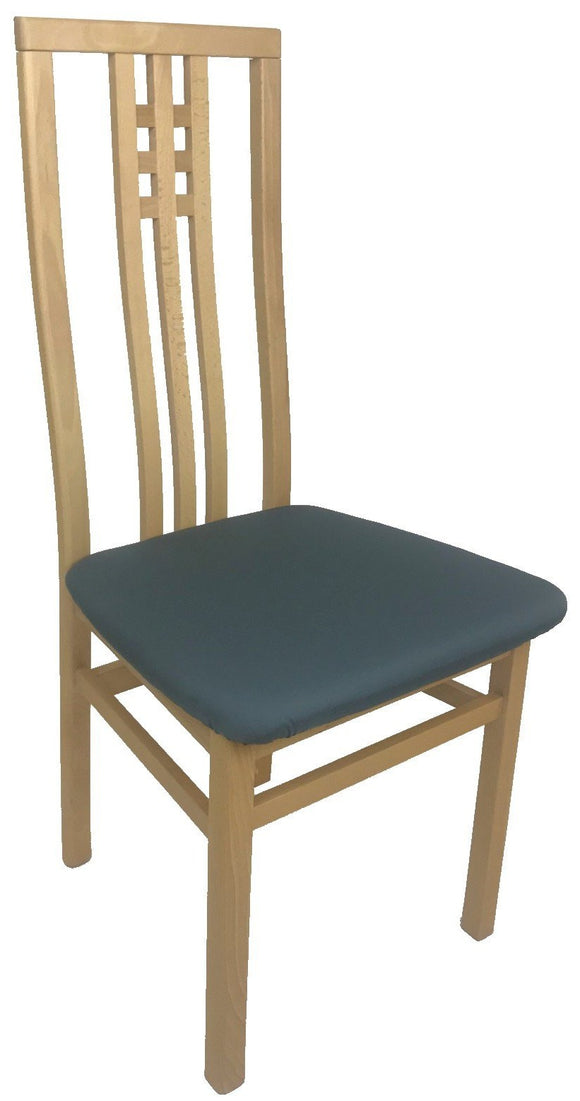 IMS Scala Dining Chair in a Beech Frame and Dark Teal Seat