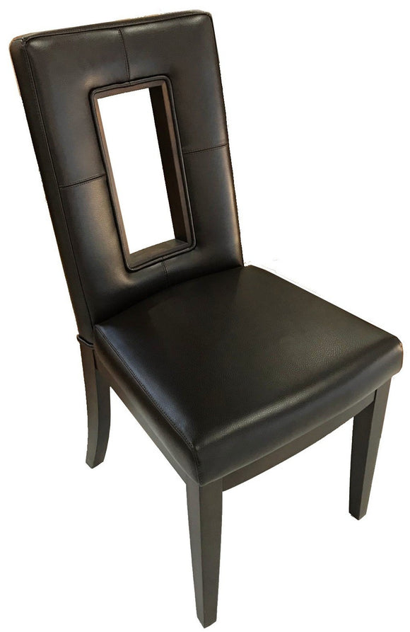 Kuka 637 Dining Chair in Dark Brown Leather and Wenge Wood