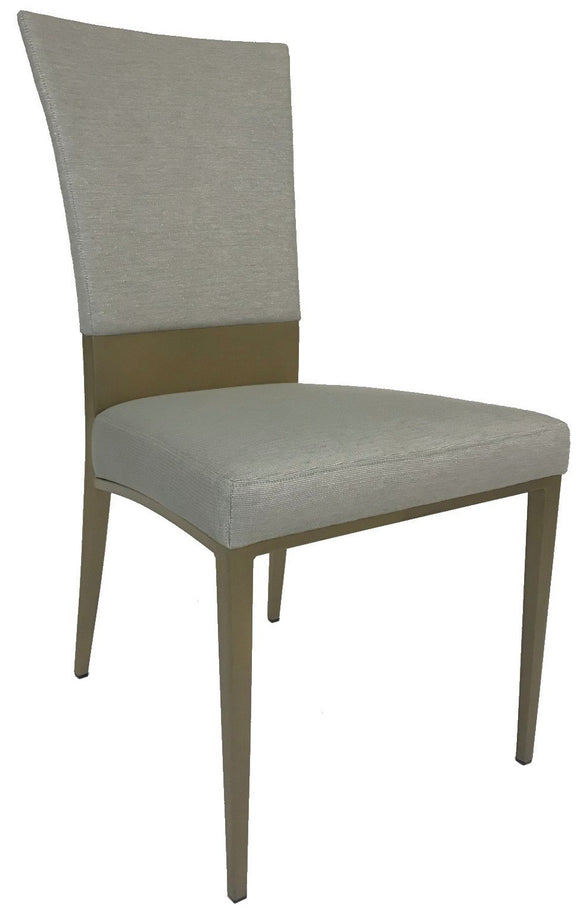 Elite Modern Carina 4018 Dining Chair in Dune Taupe Sparkling Fabric and Sahara Metal