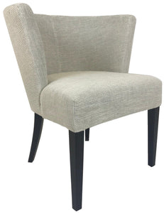 Boliya LB052 Occasional Chair in Wenge Wood Legs and Light Cream Fabric