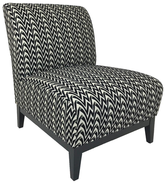 Lazar Dana Occasional Chair with a Union Station Fabric Seat and Black Wood Legs
