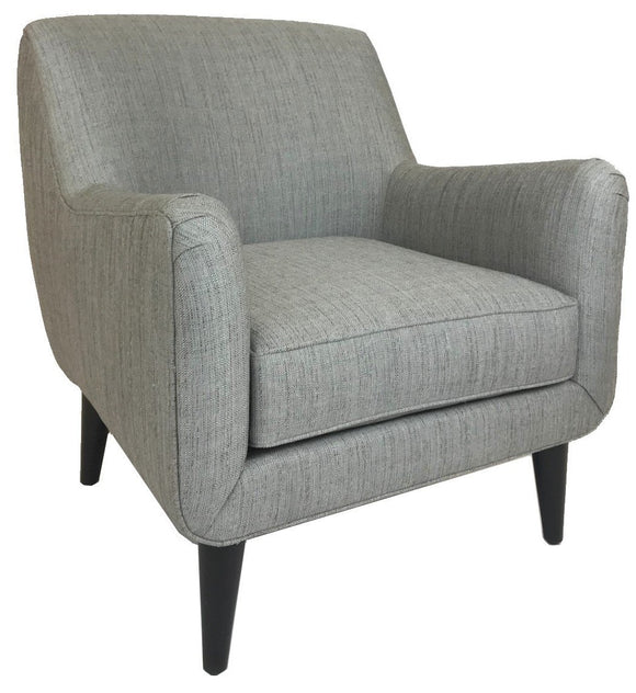 Lazar Lodi Occasional Chair with a Harlan Slate Fabric Seat and Wenge Wood Legs