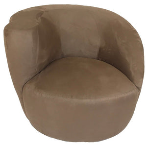 Lazar Scroll Swivel Chair High Right Arm in Pro-suede Cappuccino Fabric