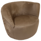 Lazar Scroll Swivel Chair High Left Arm in Pro-suede Cappuccino Fabric
