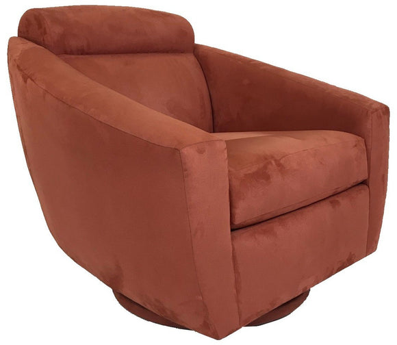 Lazar Bolo Occasional Chair in Prosuede Brick