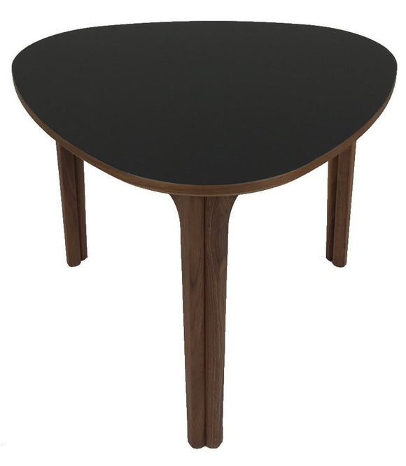 Skovby SM 207 Coffee Table with Walnut Legs and a Black Nano Laminate Top