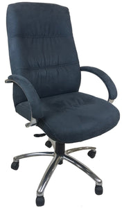 Chairworks 9335Z Office Chair in Storm Blue/Grey Fabric and Chrome Legs