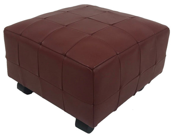 Contempo NI/1611 Ottoman in Cherry Red Leather