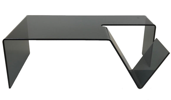 Star J79804 Gomito Coffee Table Black Glass