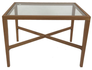 Trekanten 658 End Table with a Glass Top and Teak Wood Frame
