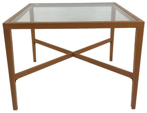 Trekanten 658 Corner Table with a Glass Top and Teak Wood Frame
