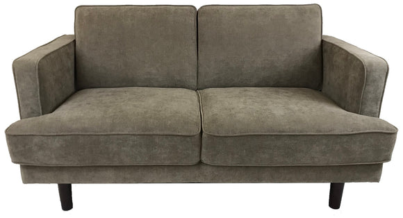 Bliss Loveseat Sofa Holly Dark Brown Wenge Leg