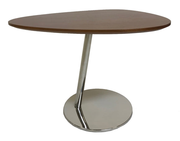 Kuka KA67X End Table with Walnut Wood and a Steel Base