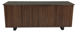 Sun Cabinet 215050 Sideboard in Walnut and Matte Black Glass