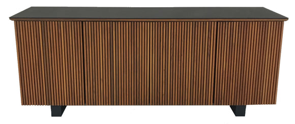 Sun Cabinet 215050 Sideboard in Teak and Matte Black Glass