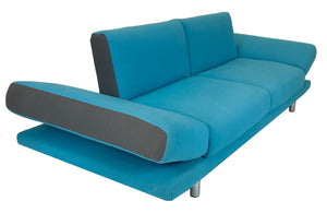 Natuzzi IT373-009 Sleeper Sofa in a Turquoise Fabric