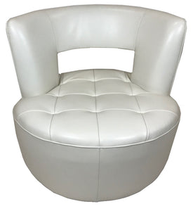 Kuka A737 Occasional Chair in White Leather