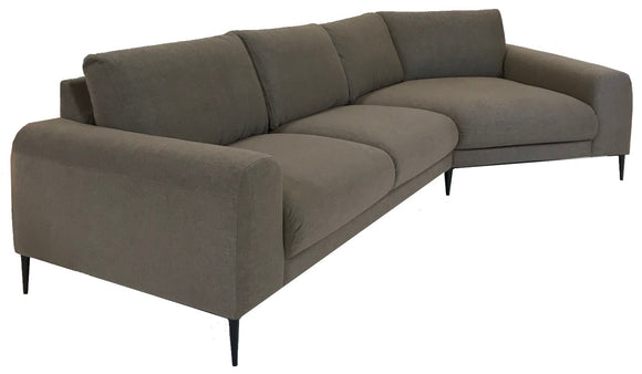 Luonto Joy Sectional with Live Beige Fabric and Black Legs