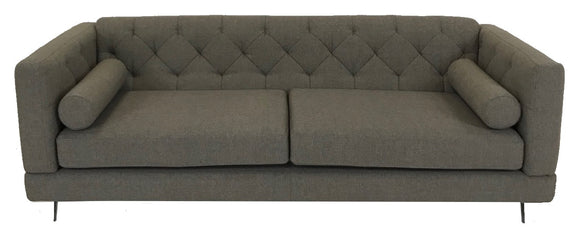 Boliya KD5056 Sofa in Brown/Grey Fabric and Metal Legs
