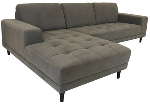 Kuka B749 Sectional in Taupe Fabric and Wood Legs