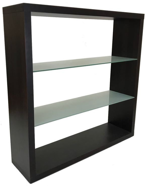 HKM 3810 Casa Bookcase in Wenge Wood with Glass Shelves