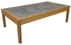 Toften Tartara 294 Coffee Table in Light Oak, Ceramic Tile, and Steel