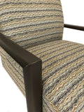 Lazar Matrix 519 Occasional Chair in Lida Delta Fabric and Wood Legs