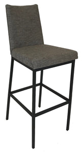 Amisco Linea 40320 Barstool in Coral Pepper Fabric and Black Legs