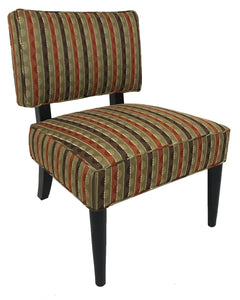 Lazar Dylan 430 Occasional Chair with a Portal Pimento Fabric and Espresso Wood Legs