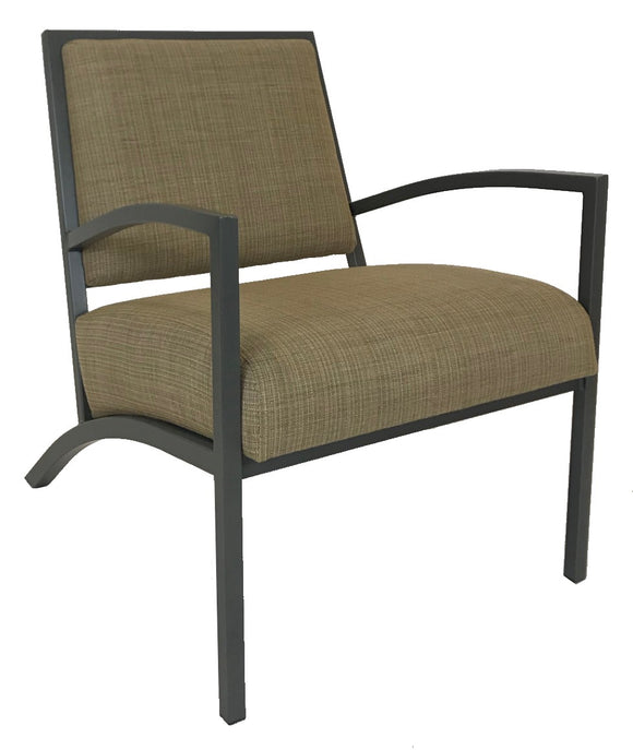 Amisco Rome 30426 Occasional Chair with Wheat Fabric and Metal Legs