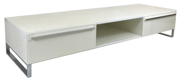 IMS Life TV Stand in White High Gloss and Metal