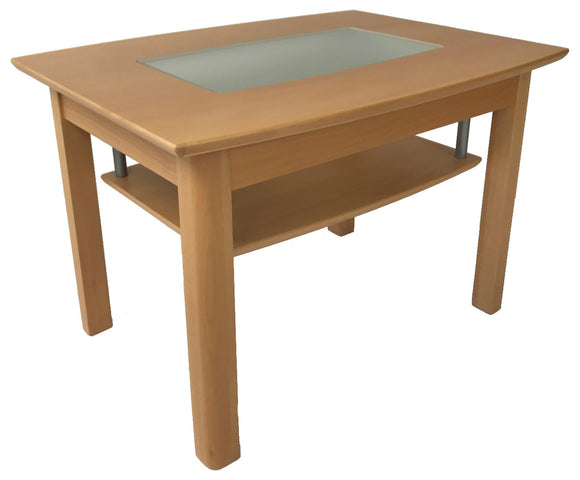 Toften 238 End Table in Beech and Glass