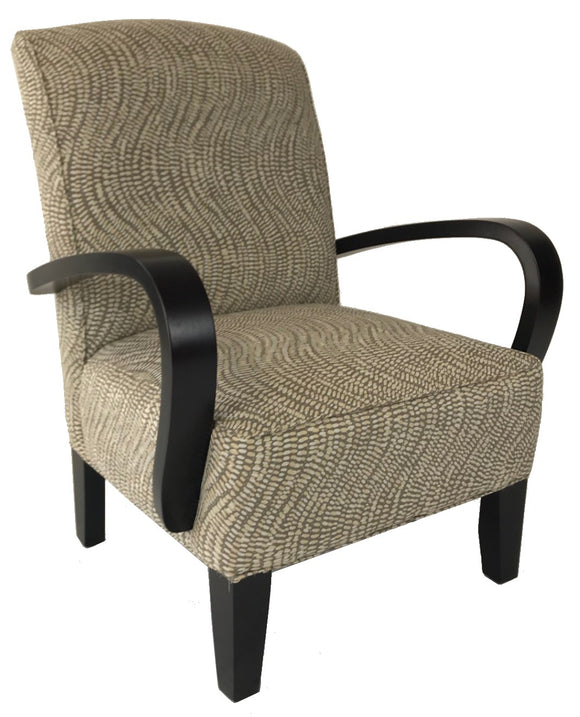 Stylus Axis Occasional Chair with Lichen Cotton Fabric and Espresso Legs