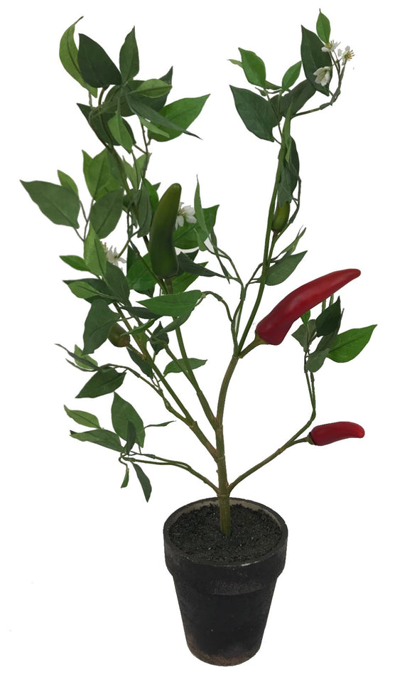 Chili Pepper Plant ~ Artificial