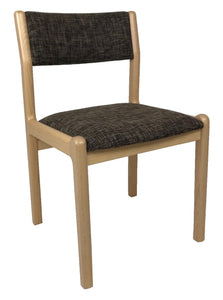 J.L. Moller 12 Dining Chair in Beech Wood with a Chocolate 802 Narbonne Fabric Seat