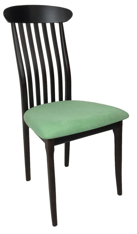 J.L. Moller 40 Dining Chair in Wenge Wood with Amareta Green Fabric