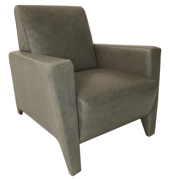 Comfortec Athena Occasional Chair in Grey Leather
