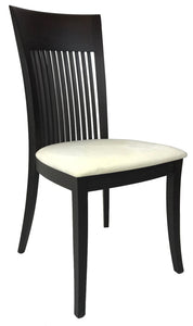 IMS Aston Dining Chair in Wenge Wood and an Ivory Fabric Seat