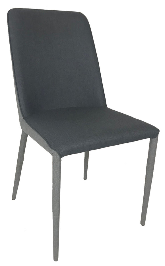 Actona Avanja Dining Chair in Dark Grey Fabric