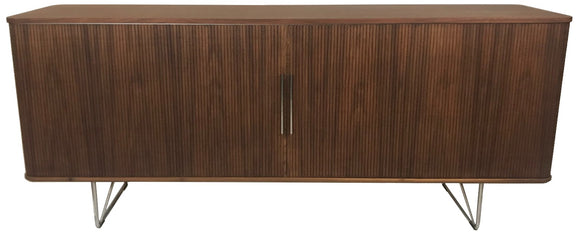 Aksel Kjersgaard Naver 2730 Sideboard in Walnut Wood and Stainless Steel