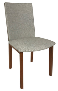 Skovby SM 51 Dining Chair in Cherry Wood and Lind Grey Fabric