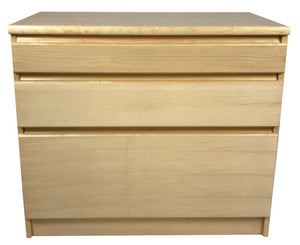 Westergaard 63003 3 Drawer File in Maple and Sterling