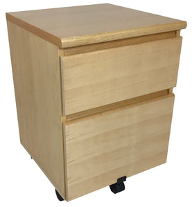 Westergaard 62073 Mobile File Cabinet in Maple and Sterling