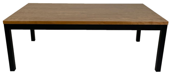 Vejle 602 Coffee Table in Cherry and Black Steel