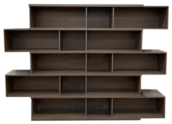 Scanbirk 79440 Move Bookcase in Anthracite Stained Oak