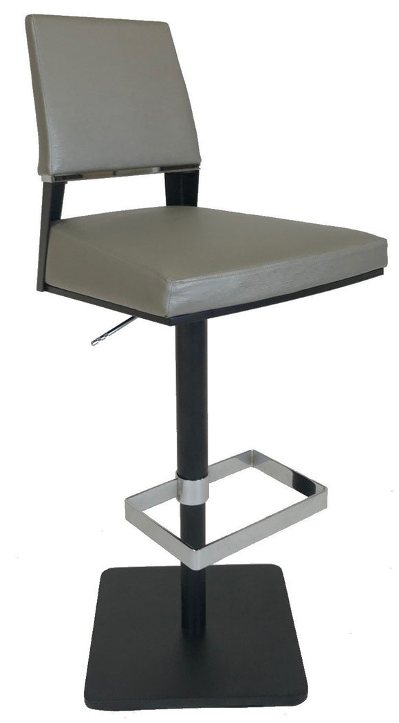 Elite Modern Vivian Barstool with Granite Fabric, a Carbon Base and a Steel Footrest